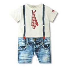 Baby Boy Clothing Sets Short Sleeve Newborn Baby Clothes Infant Jumpsuits