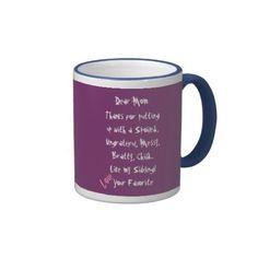 Love, Your Favorite! Mom Mug Love it!