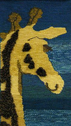 Hollie's giraffe tapestry close-up