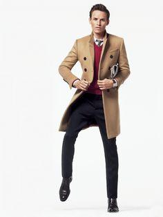 Eddie Redmayne in Burberry Prorsum coat - July 2013 GQ U.S. Edition #menswear #gq