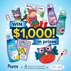 Keep spirits bright and enter to WIN $1,000+ of holiday presents from Purex, Simon & Schuster, and My Studio Girl