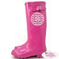 Monogrammed Chevron Rain Boot Decal in many colors  Apparel & Accessories > Shoes > Boots > Rain Boots