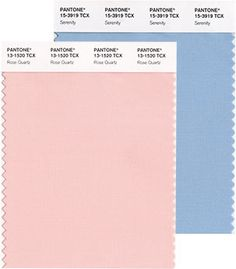 Pantone's 2016 color of the year is actually two colors: Quartz Rose and Serenity.  www.SueKrider.com
