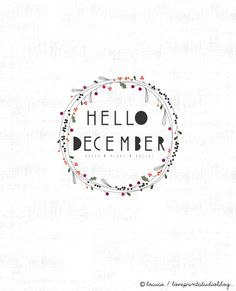 Illustratie Happy #December   loveprintstudio