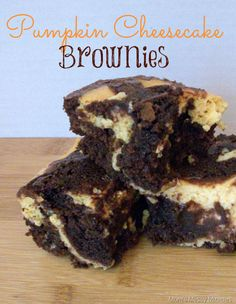 These Pumpkin Cheesecake Brownies are easy to make and so yummy!!!