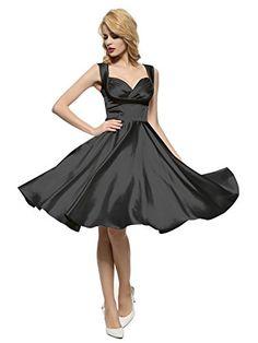 Maggie Tang Women's Spring Vintage Garden Party Picnic Dress Black L