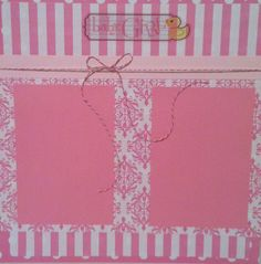 Baby girl scrapbook page made by me