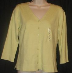 $19.99 + FREE SHIPPING.   NWT Worthington Green Cotton Blend Stretch Knit Top Cardigan M NEW $30 FREE SHIP