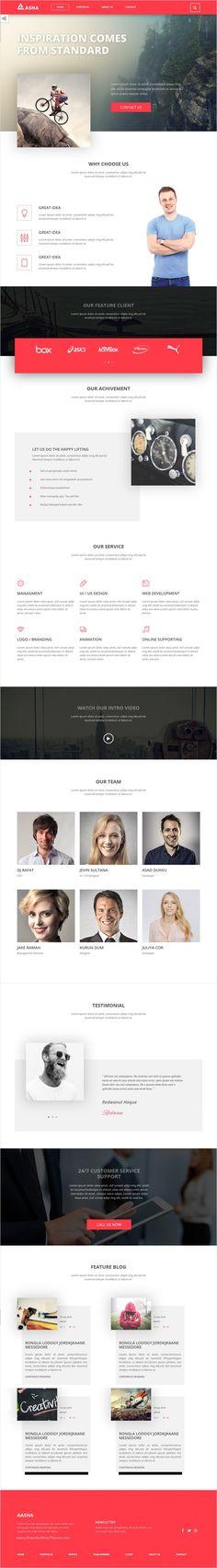 Aasha is modern and elegant design #Bootstrap template for #startups #landing page website download now➩ https://themeforest.net/item/aasha-agency-landing-page-template/17316388?ref=Datasata