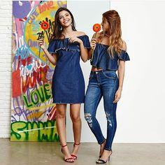 Closet Lit: Vestido, Skinny e Blusa Jeans
