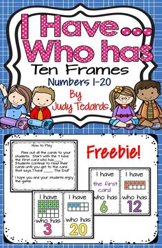 This I have...who has... game is a great way to teach or review ten frames and number recognition from 1 to 20. It can be used in small groups or with your whole class.  It makes learning numbers fun.