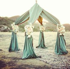 Perfect setup for a beach wedding