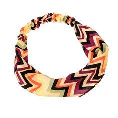 Stripe Chevron Headband Multi Colored Plum   Headbands, Cheap Fashion Jewelry   Purple Box Jewelry