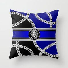 Couch Pillows, Down Pillows, Designer Throw Pillows, Medusa, Pillow Design, Pillow Inserts, Hand Sewing, Chain, Silver