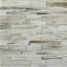 Matchstix Aura White Glass Tile 14.50 sheet