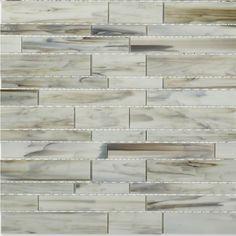 Matchstix Aura White Glass Tile 14.50 sheet