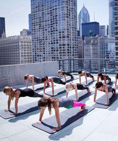 Rooftop yoga sounds incredible.