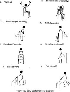 Chair Workout Workout And Chairs On Pinterest