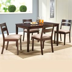 Make fine dining an experience to cherish with this elegant dining table set. Will look good in homes with contemporary or traditional decor. Cheap Dining Tables, Wooden Dining Tables, Dining Set, Fine Dining, Online Furniture Stores, Elegant Dining, Traditional Decor, At Home Store, Contemporary Furniture