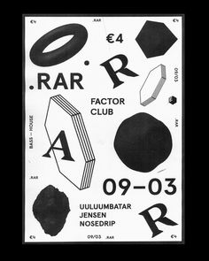 Really nice poster work for .RAR by Josse Pyl, Stef Michelet and Timo Bonneure.