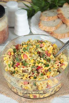sałatka z zupek chińskich   Domowy Smak Jedzenia .pl Kraut, Pasta Salad, Cooking Recipes, Vegetables, Ethnic Recipes, Food, Salads, Polish Food Recipes, Noodle Salads