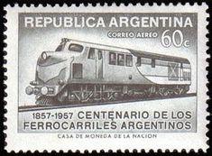 Sello: Modern Express-Locomotive (Argentina) (Centenary of Argentine railroads.) Mi:AR 660,Sn:AR C67,Yt:AR PA47,Sg:AR 908,G&o:AR 1085,Gz :AR Ae73
