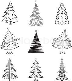 Christmas Trees Vectors Brushes Shapes PNG  Photoshop Freebies