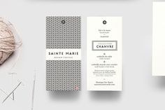 Branding for Montreal-based textile designer Monique Ste-Marie. Hand woven of hemp, her graceful baskets are perfect for home organizing. Th...