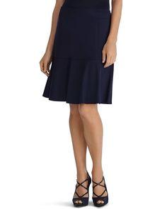 Navy Ponte Flirty Skirt