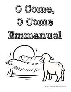 O Come, O Come Emmanuel Coloring Page - Real Life at Home