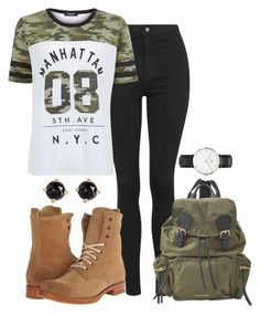 Raven Reyes Inspired School Outfit by natashayoung on Polyvore featuring polyvore fashion style New Look Topshop Frye Burberry Daniel Wellington Irene Neuwirth clothing
