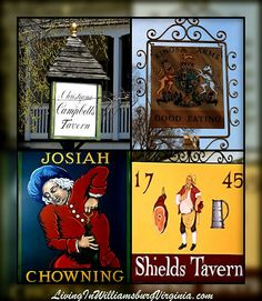 Tavern Signs, Colonial Williamsburg, Virginia