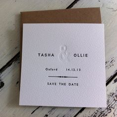 Letterpress Wedding Save The Date Sample £1.50