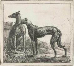 Simon de Vlieger–Two Greyhounds–1610