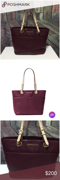 "Michael Kors Bedford Tote | Plum Michael Kors Bedford Pocket Tote in Plum Color - Excellent Used Condition   The Bedford pocket tote features:  ➰soft venus leather with vachetta leather trim ➰top zip closure ➿zip pocket, 4 slip pockets, and key fob lanyard inside ➰double handles ➰4 exterior pockets ➰approx. 14"" L x 10.5"" H x 5""D ➰9"" approx. handle drop Michael Kors Bags Totes"