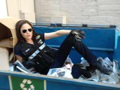 Why Jorja Fox Left CSI   Treasure in the trash: Jorja Fox takes a break from filming. (Photo ...