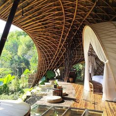 Bambu Indah, Bali, Indonesia. #Regram via @we.love.hotels Bambu Indah is a radically distinctive eco lifestyle boutique hotel in Ubud. It combines the best of antique architecture and design with modern and sustainable practices in a luxury environment.