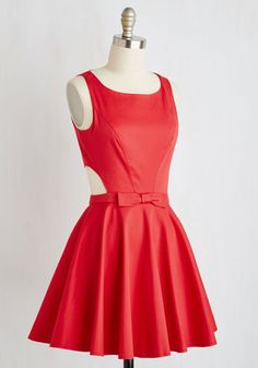Classic Twist Dress in Ruby | Mod Retro Vintage Dresses | ModCloth.com