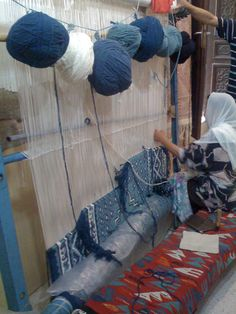 Tunisia (Amazigh rug weaving.)..