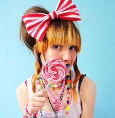 Hairstyles With A Candy Theme? Who Doesn't Love This Idea?    #candy #hair #style