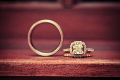 Stunning wedding rings from Lewis Jewelers! Photography by Holli B Photography. Wedding Poses, Wedding Bands, Wedding Ideas, His And Hers Rings, From Miss To Mrs, Wedding Vendors, Weddings, Ring Shots, Pretty Rings