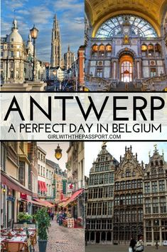 Only have 1 day in Antwerp? Perfect because this one day Antwerp itinerary will show you some of the best things to do in Antwerp and introduce you to all the must-see attractions in Antwerp, like Central Station, Cathedral of Our Lady, Rubenshuis, and mo Europe Destinations, Europe Travel Guide, Travel Guides, Cool Places To Visit, Places To Travel, Places To Go, European Vacation, European Travel, Visit Belgium