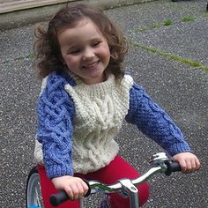 f2fd35f55 Conor aran cable sweater for boys and girls pattern by Christina Drummond