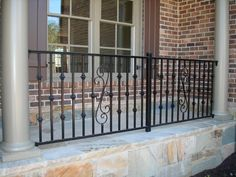 Iron Fence, Inc. :. Outdoor Railings, Cast Iron Railings, Front Entrances, Painted Chairs, Fence Gate, House Front, Gates, Utah, Porch