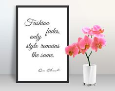 Motivation quotes COCO CHANEL trendy wall art poster home decor print trendy cubicle glamour decor minimalist wall poster Gift for her by GecleeArtStudio on Etsy Quote Posters, Quote Prints, Wall Art Decor, Room Decor, Chanel Wall Art, Glamour Decor, Coco Chanel Quotes, Typography Quotes, Wall Art Quotes