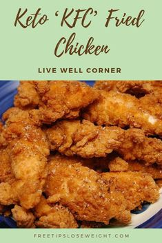 Keto 'KFC' Fried Chicken - Best Picture For keto recipes cream cheese For Healthy Diet Recipes, Keto Snacks, Chicken Recipes For Diabetics, Air Fryer Recipes Keto, Keto Foods, Ketogenic Recipes, Eating Healthy, Ketogenic Diet, Pollo Keto