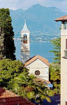 View of Stressa -  Lake Maggiore, Italy.