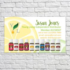 Customizable Printable Young Living Essential Oil Business Cards