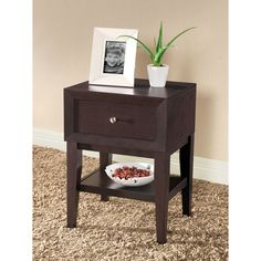 Gaston Brown Modern Nightstand