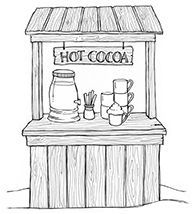 Stacey Yacula Studio - Cocoa Stand          Purple Onion Designs stamps              $7.00